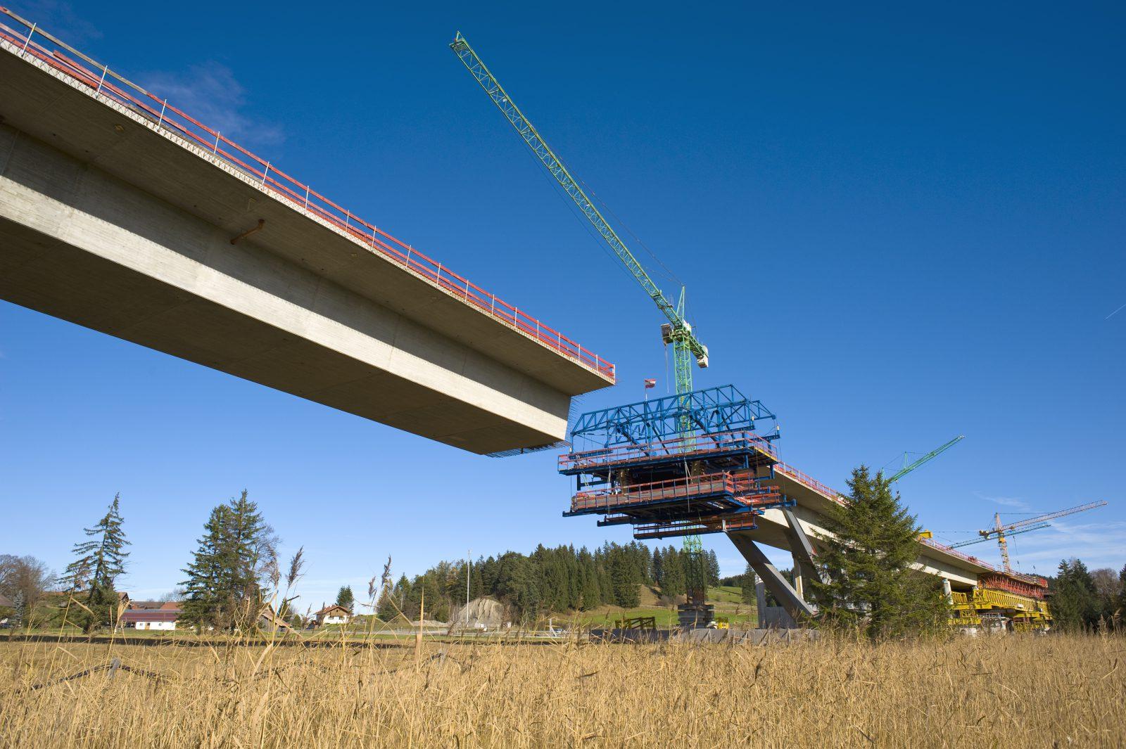 Talbrücke Enzenstetten, Baustellenimpression