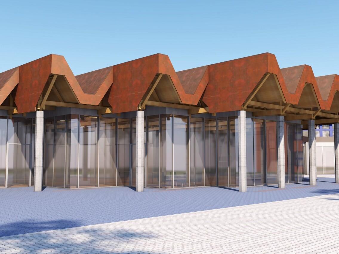 Perspektive Zentralgebäude, Finanzcampus Ansbach