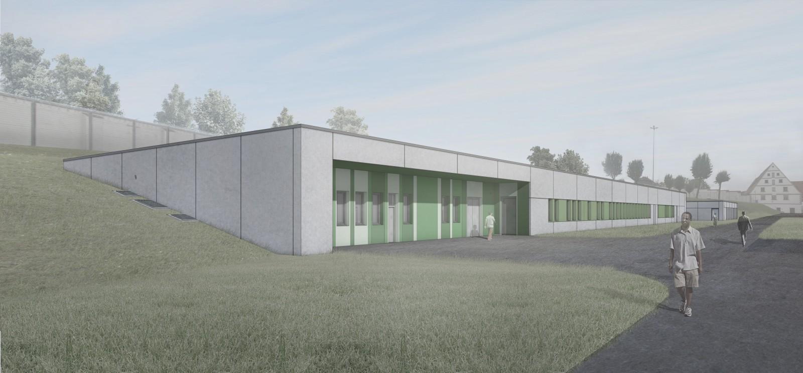JVA Kaisheim, Neubau Sporthalle und Versorgungszentrum