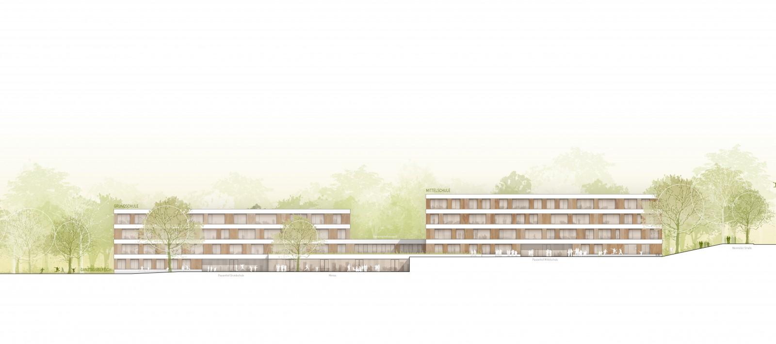 Neubau der Schulen im Steinpark, Freising