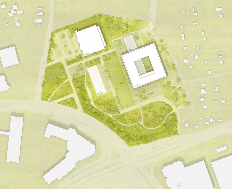 WB Essen Gymnasium Nord-Ost Lageplan