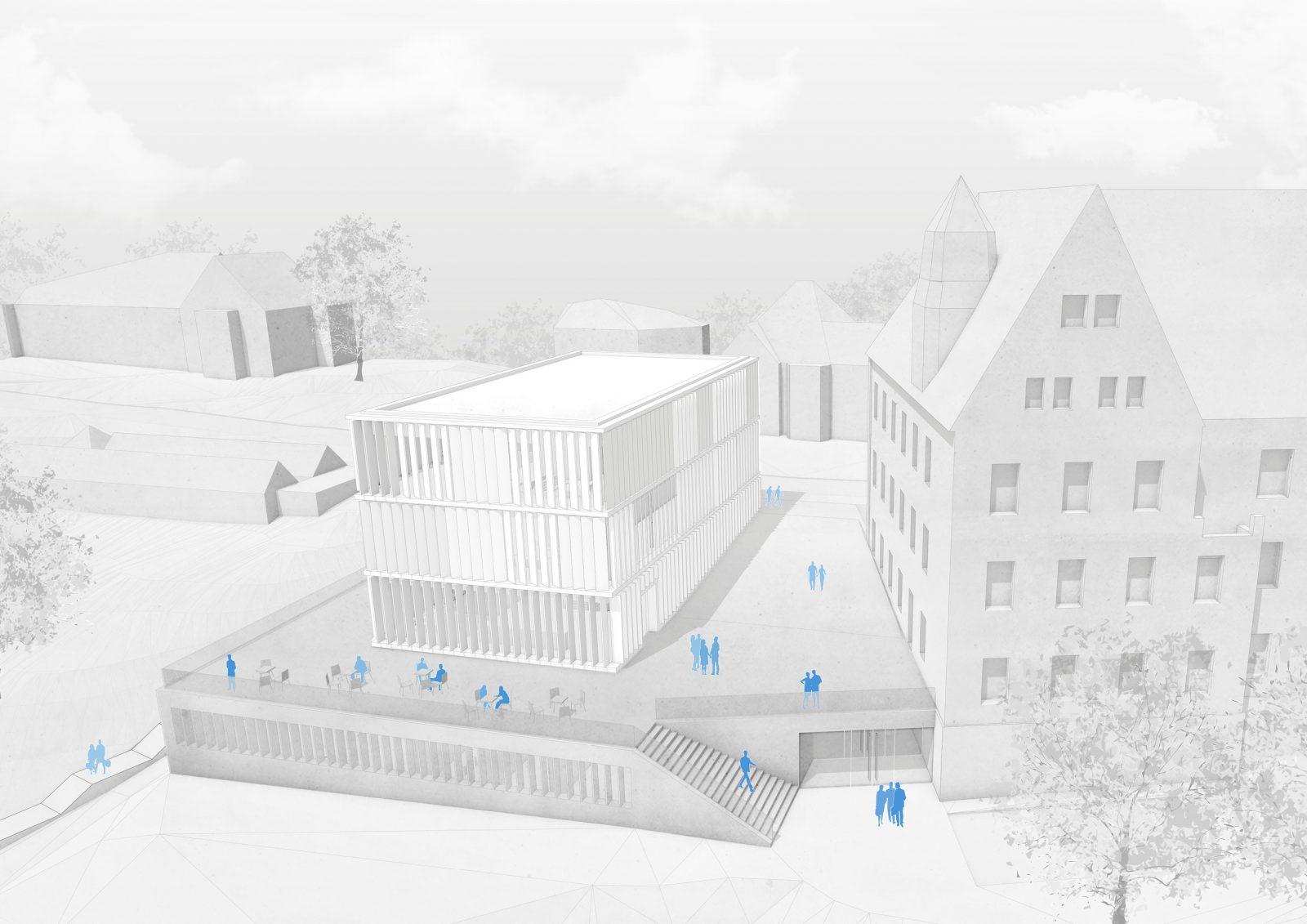 Neubau Bibliotheksgebäude, Asien-Orient-Institut, Tübingen
