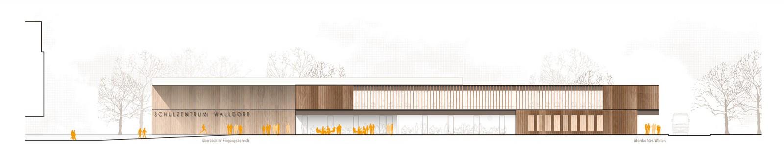 Schulzentrum Walldorf, Mensa Ganztagesbetreuung und Sporthalle