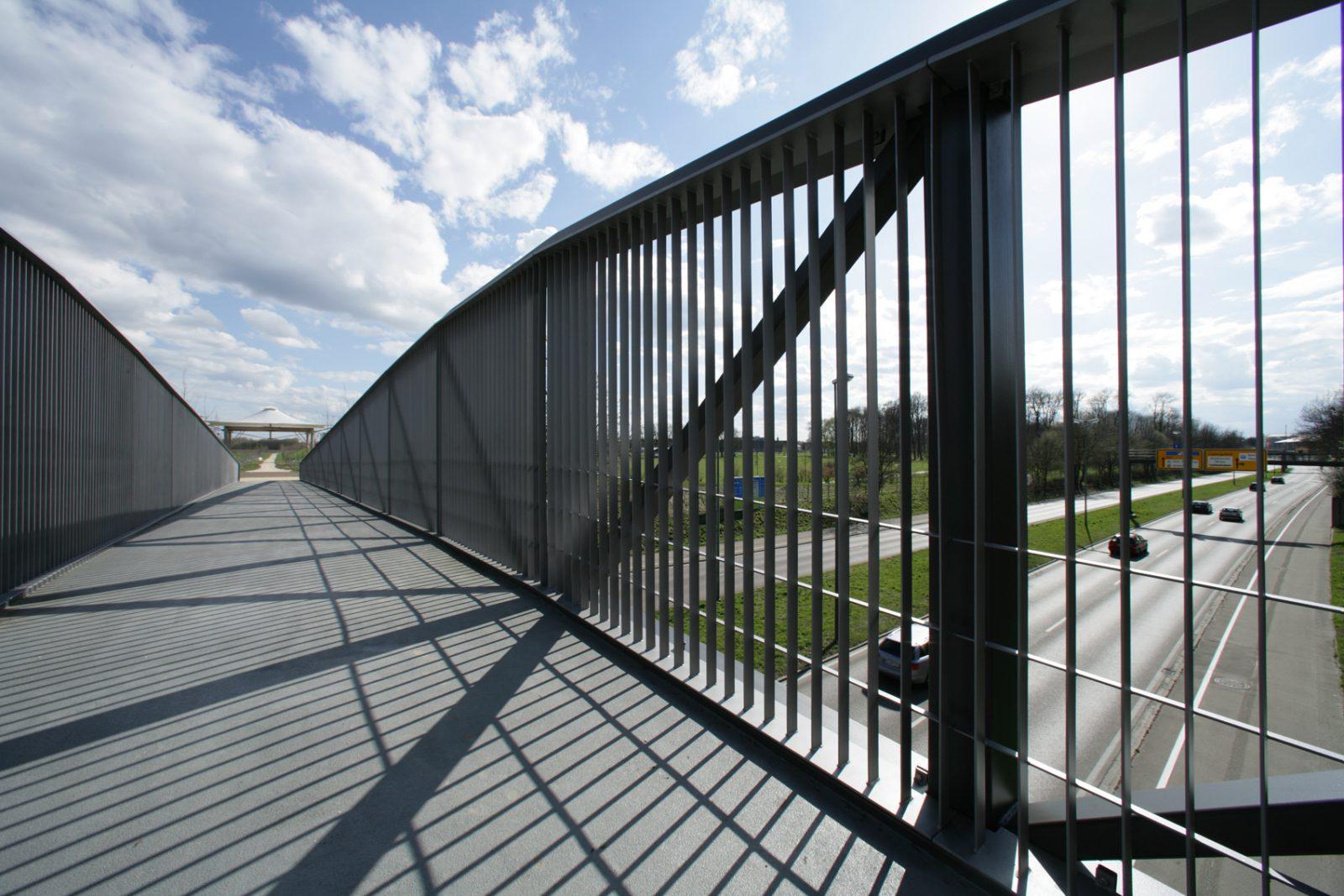 Fuß- und Radwegbrücke über Europastraße, Neu-Ulm