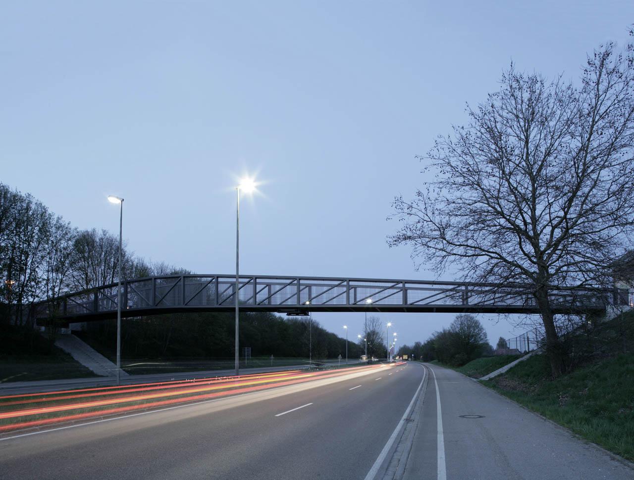 Fuß- und Radwegebrücke über die Europastraße, Neu-Ulm