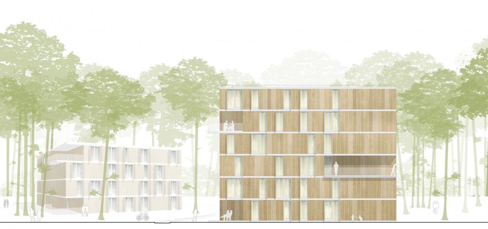 Erlangen, Wohnanlage für Studierende