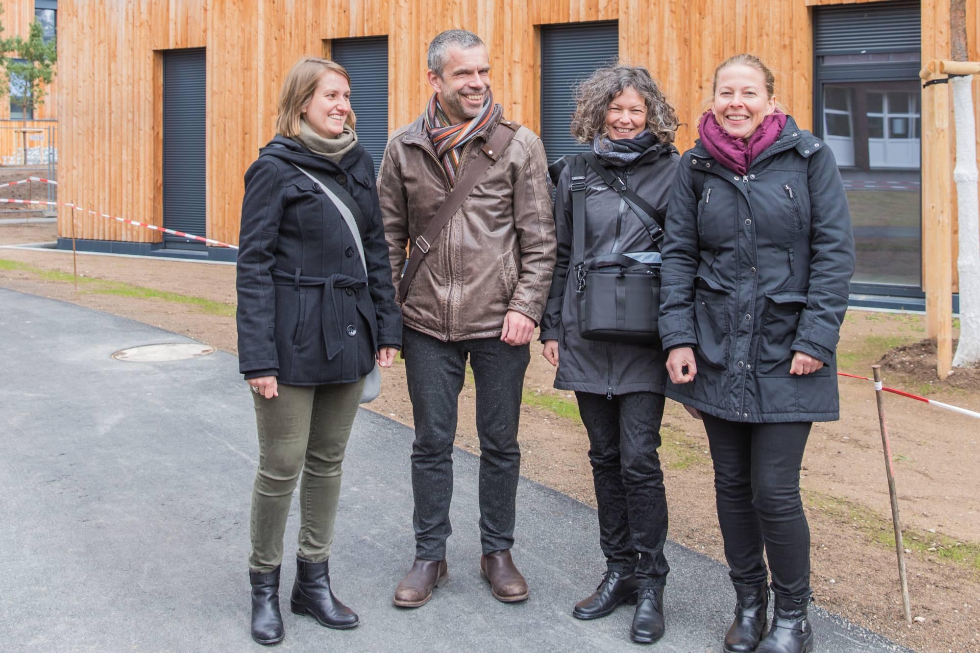 Bezug des ersten Hauses, Neubau Wohnanlage für Studierende, Erlangen