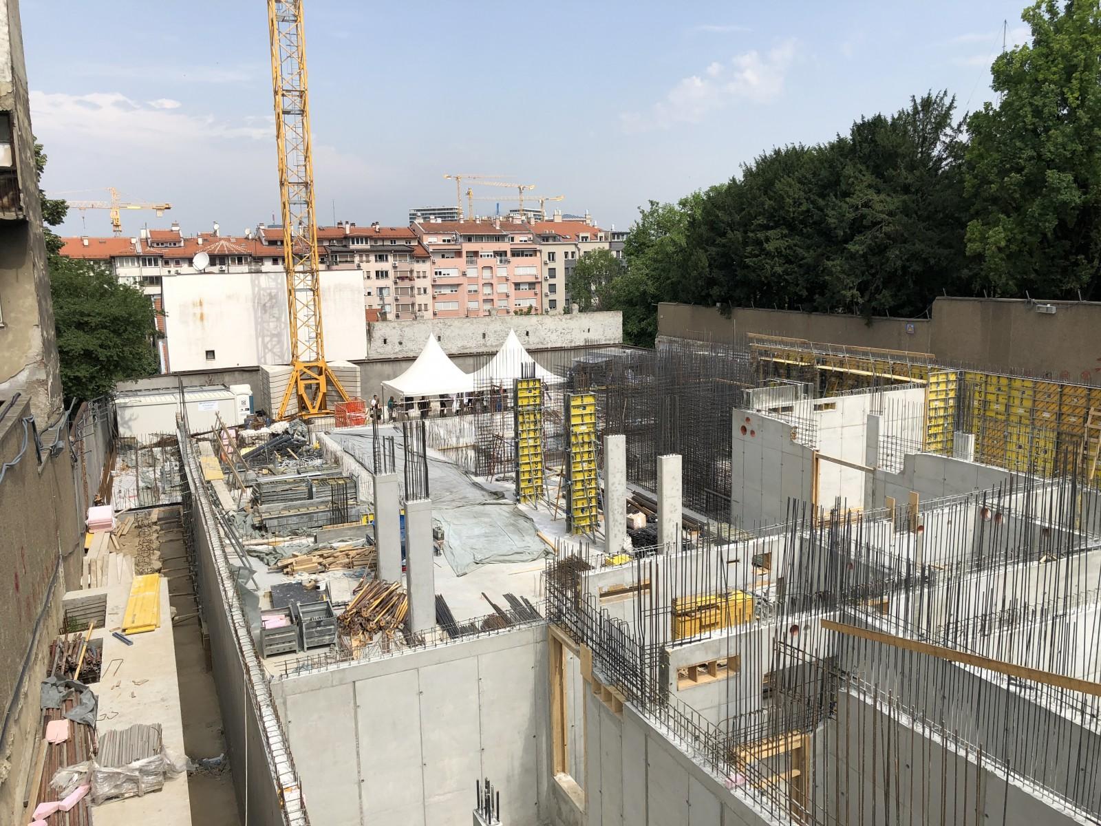 Baustelle Neubau Deutsche Botschaft Belgrad