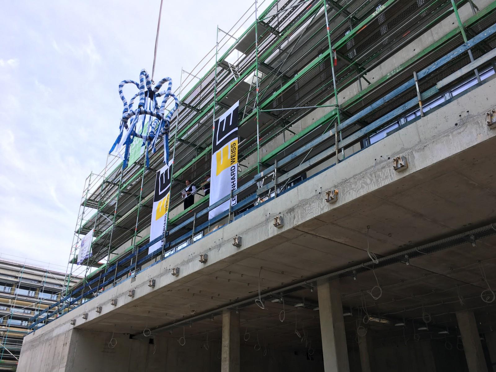 Richtfest Neubau Mensa- und Lehrsaalgebäude, Ansbach