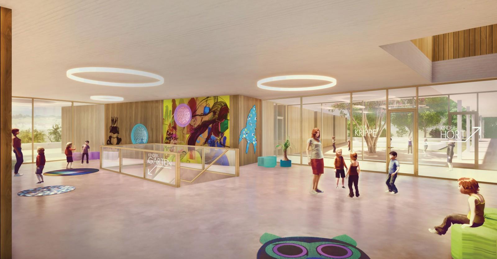 WB Furth Kindergarten Innenraumperspektive