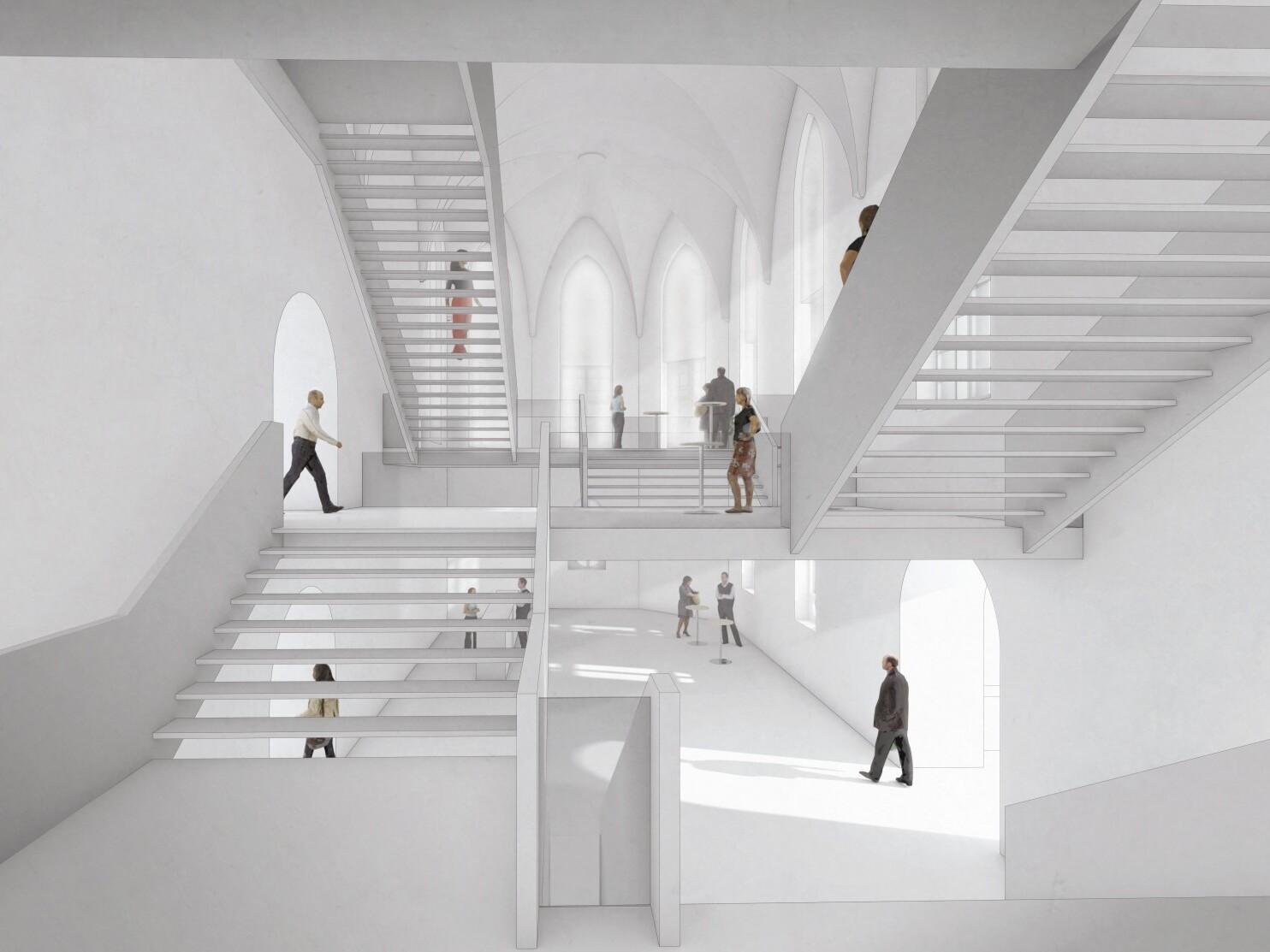Wettbewerb Stadttheater Amberg, Perspektive Innenraum