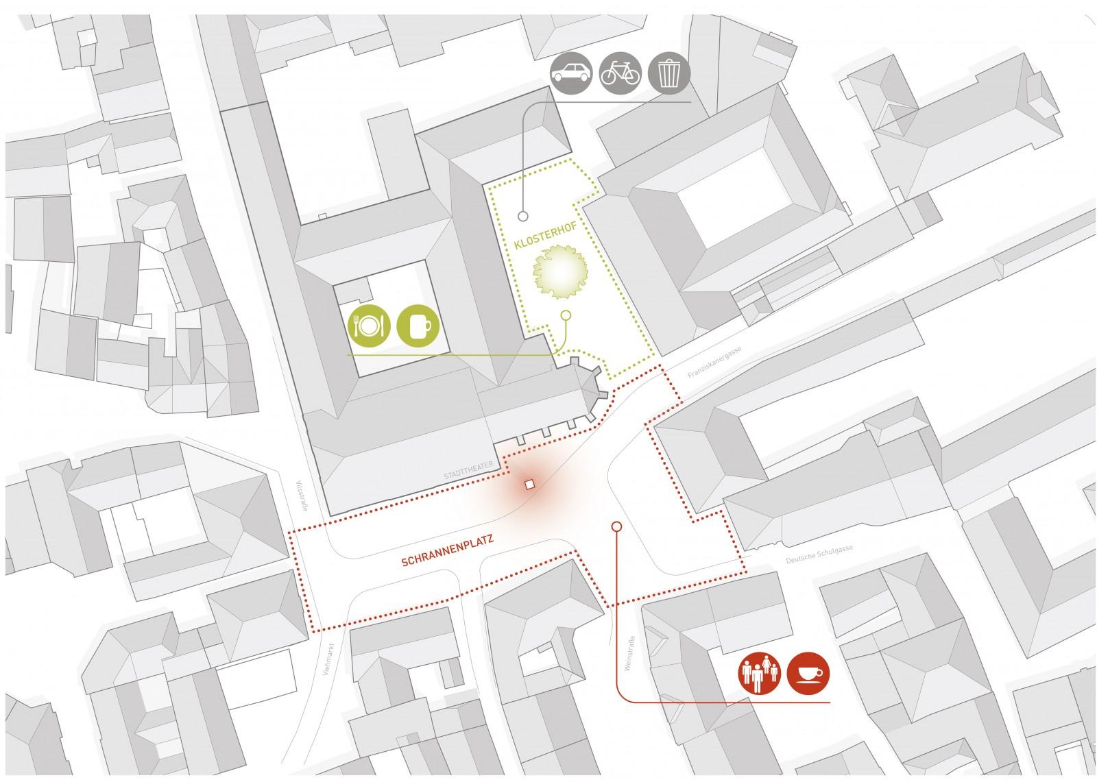 Wettbewerb Stadttheater Amberg, Lageplan