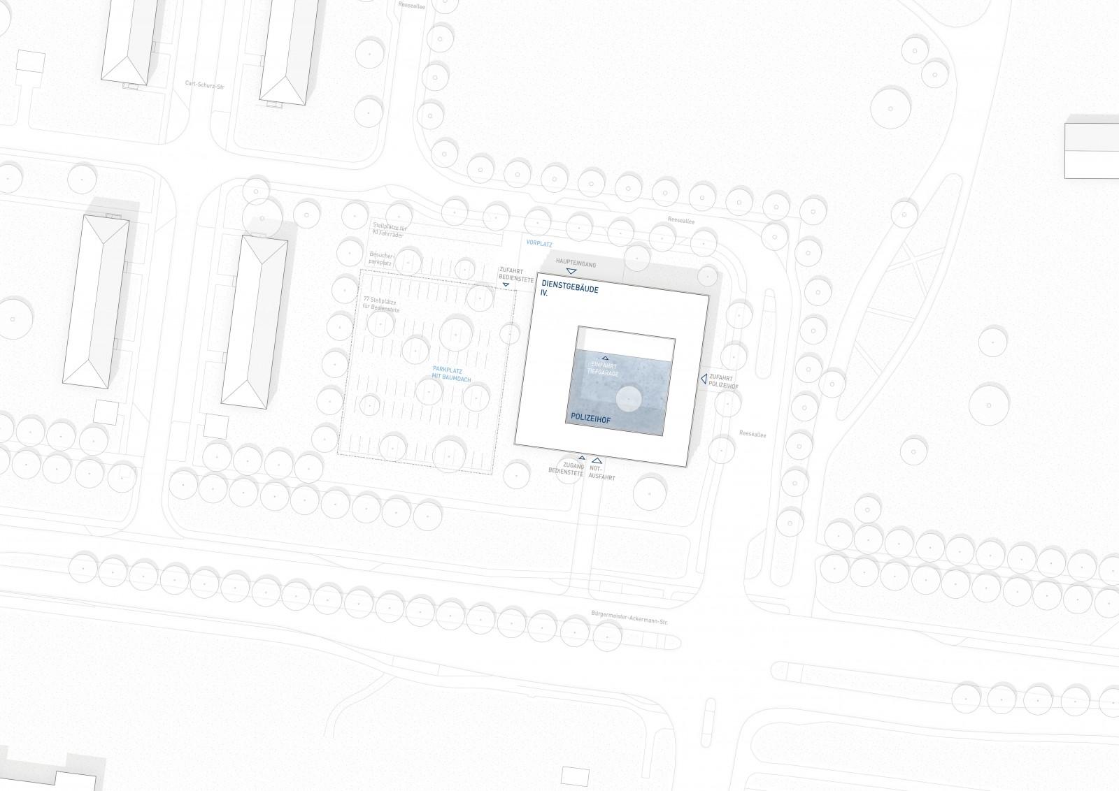WB Polizeiinspektion West, Augsburg, Lageplan