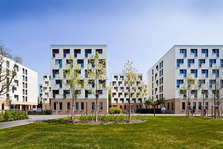Neubau katholische und evangelische Studierendenwohnheime, Campus Westend, Goethe-Universität, Frankfurt am Main