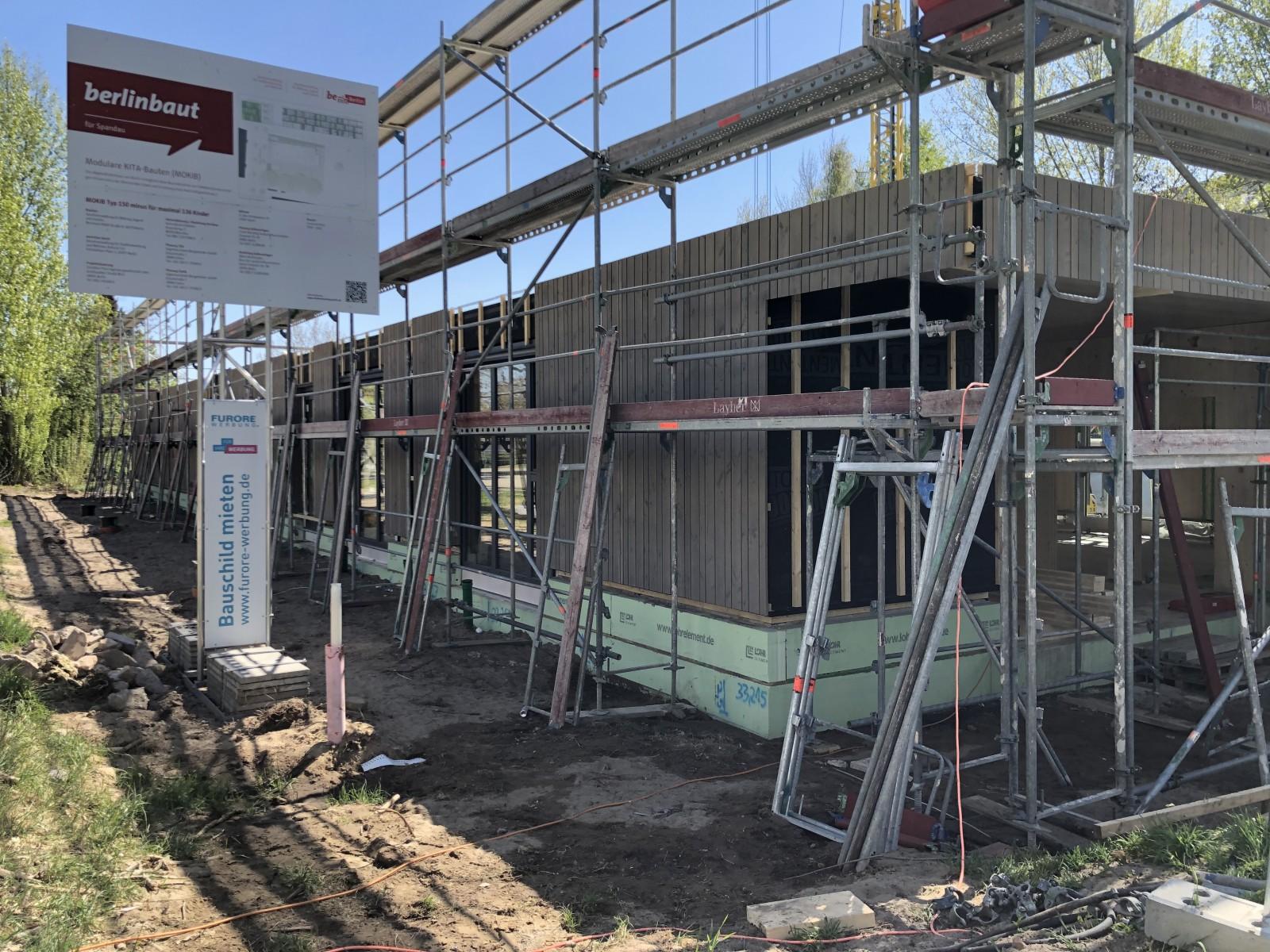 Baubeginn, Mokib 1. Standort Fichtewiesen, Berlin
