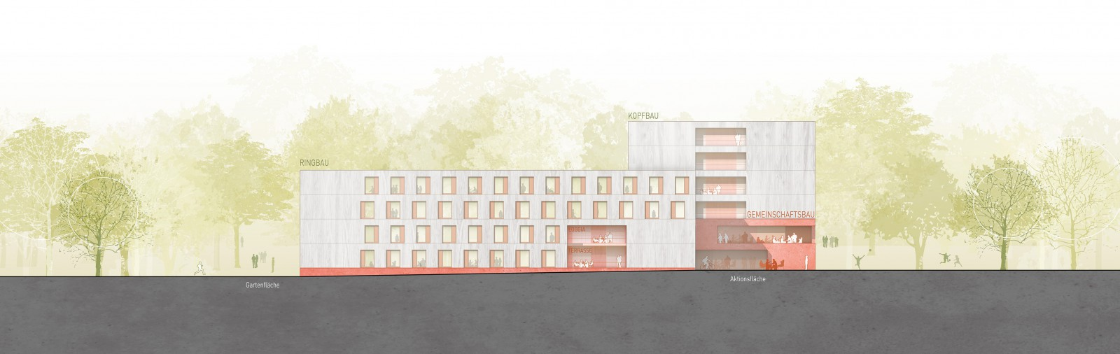Regensburg, Neubau Studentenwohnanlage Nibelungenkaserne