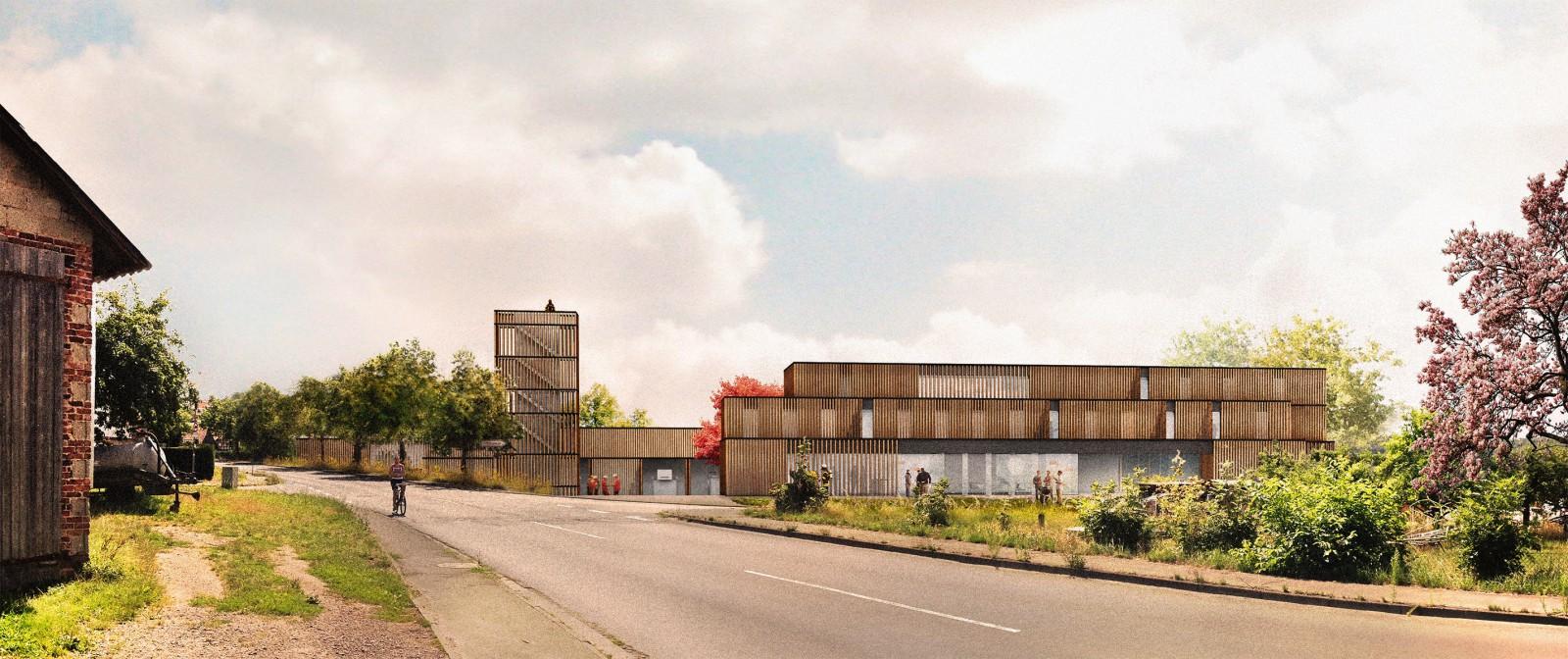 Marburg, Neubau Feuerwehrhaus, Trainingszentrum und Jugendausbildungszentrum