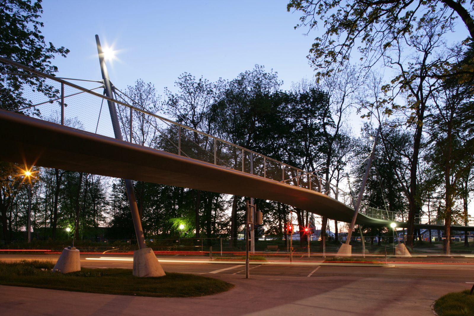 Fuß- und Radwegbrücke über die Ringstraße, Neu-Ulm