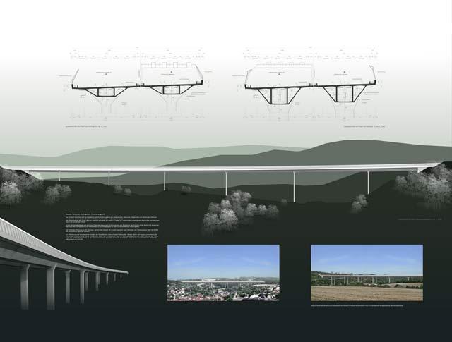 Wettbewerb Autobahn-Talbrücke Heidingsfeld