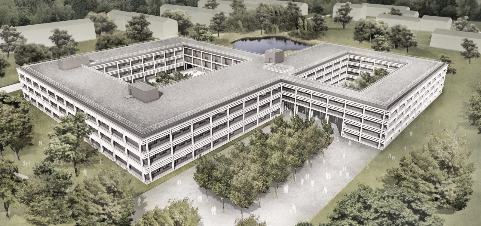 Neubau Lehrsaal- und Funktionsgebäude, Führungsunterstützungsschule der Bundeswehr, General-Fellgiebelkaserne, Pöcking