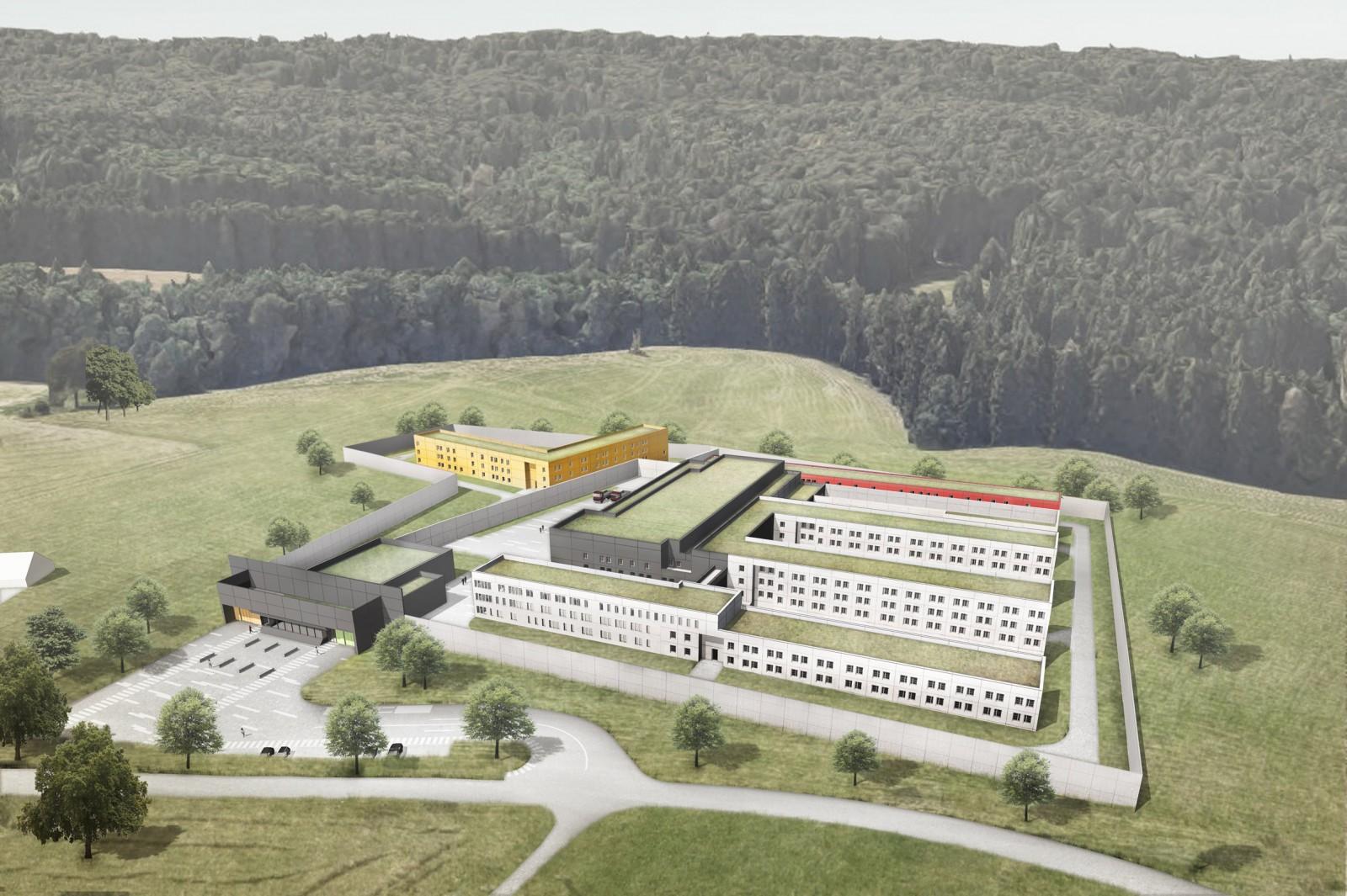 Neubau JVA Passau Perspektive