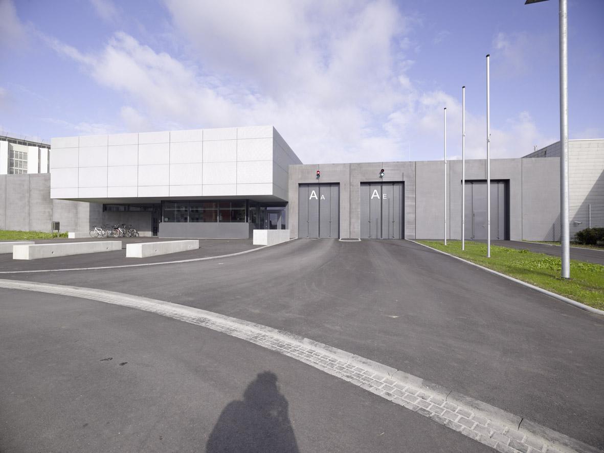 Neubau Torwachgebäude mit Fahrzeugschleuse