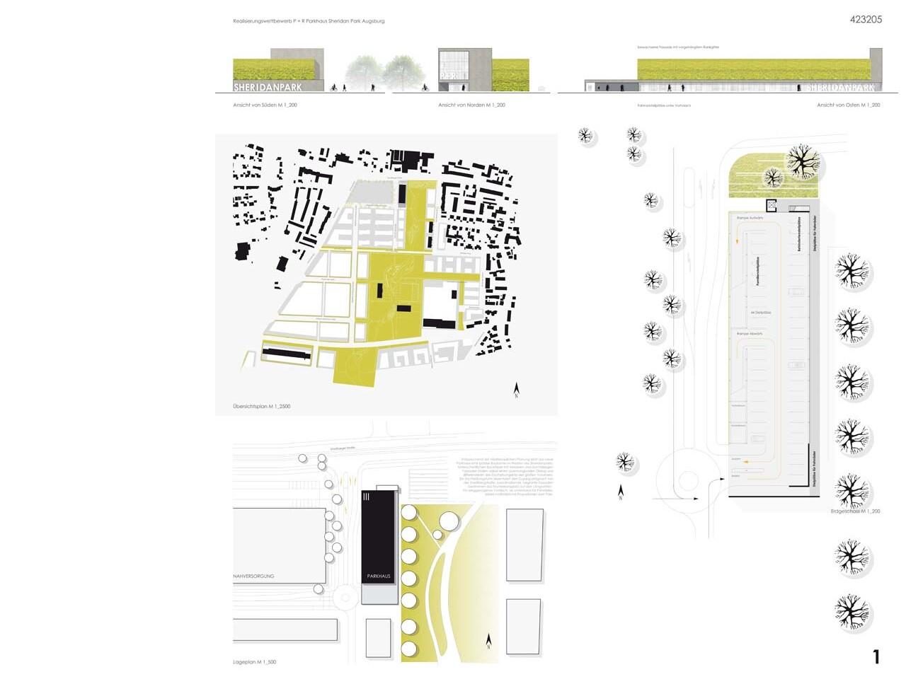 Wettbewerb Neubau Parkaus im SheridanPark Augsburg