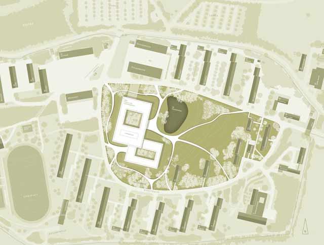 Lageplan Lehrsaal- und Funktionsgebäude, Pöcking