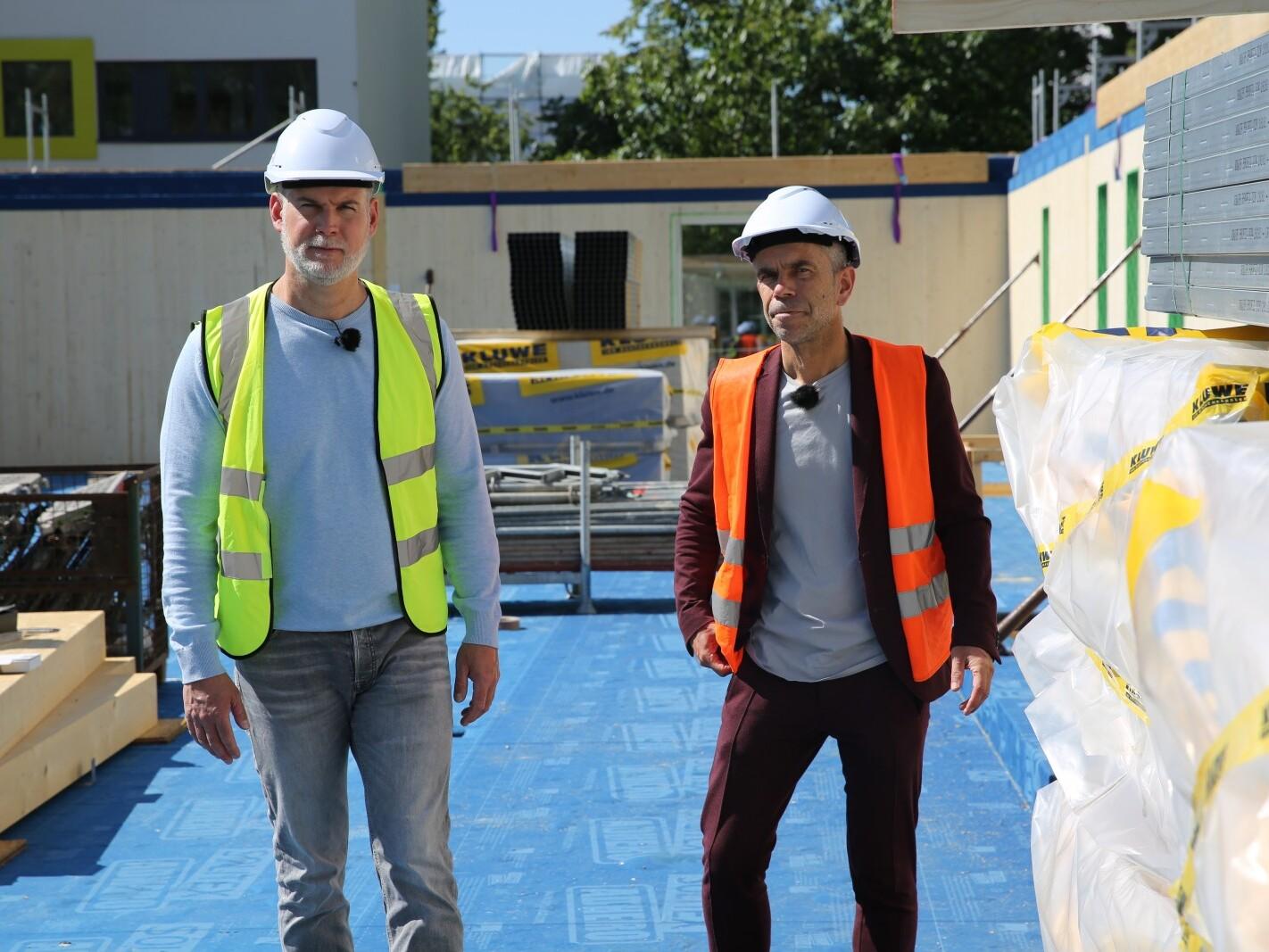 Ludwig Karl und Sven Oswald auf der Baustelle